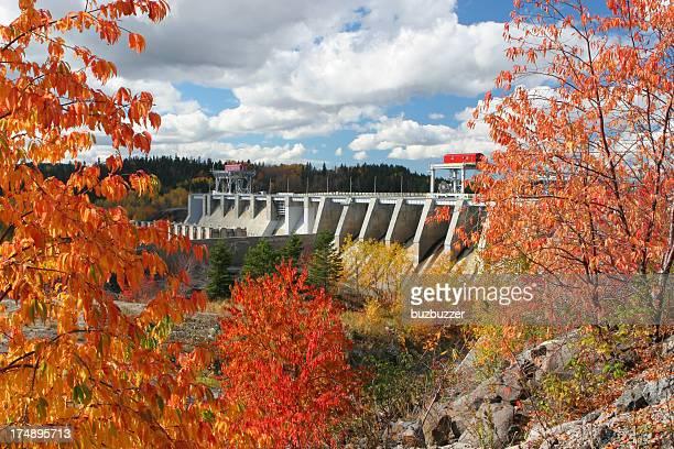 Large Dam Infrastructure in Autumn