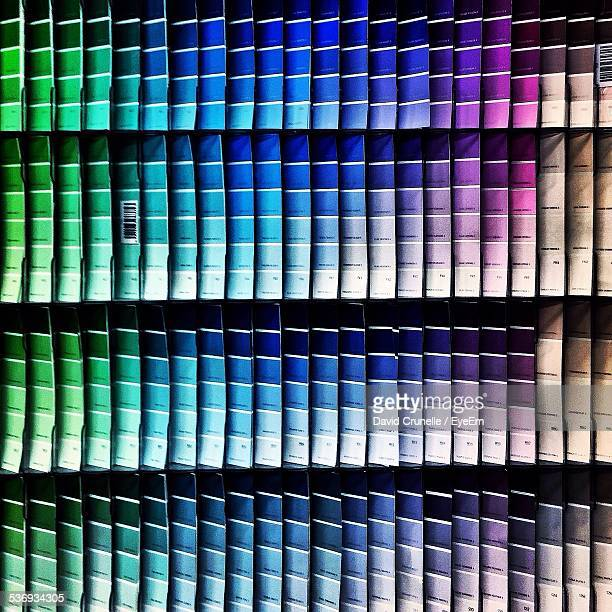 Large Display Of Paint Swatches