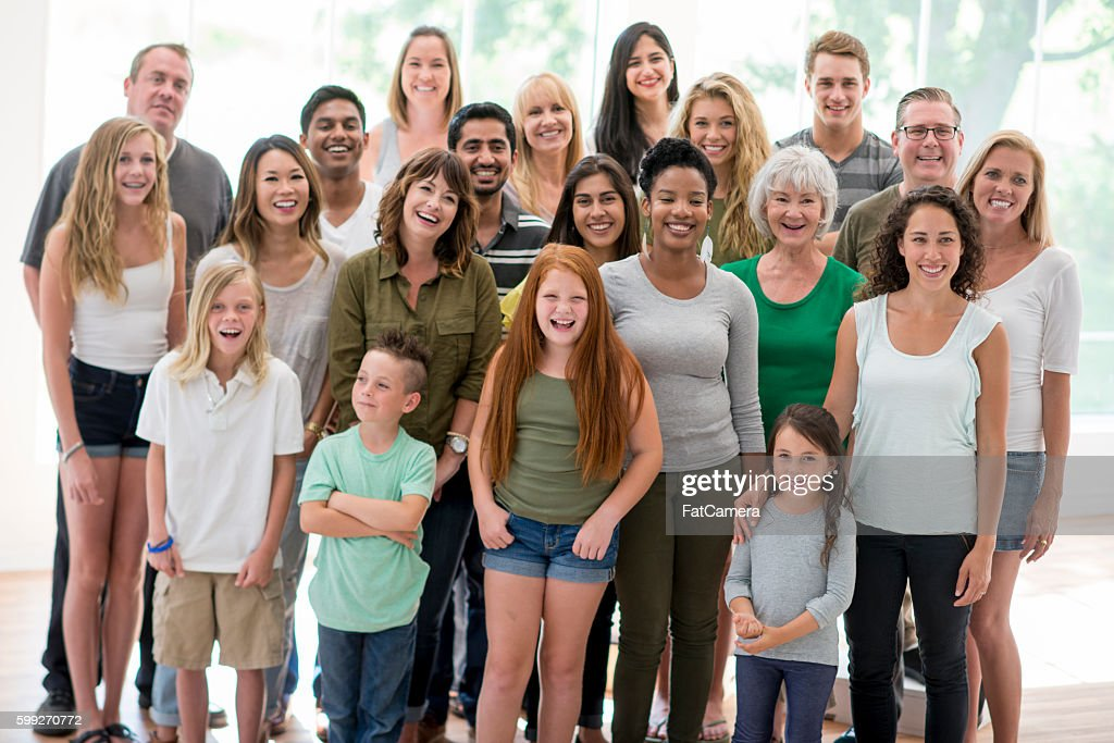 Large Diverse Family : Stock Photo