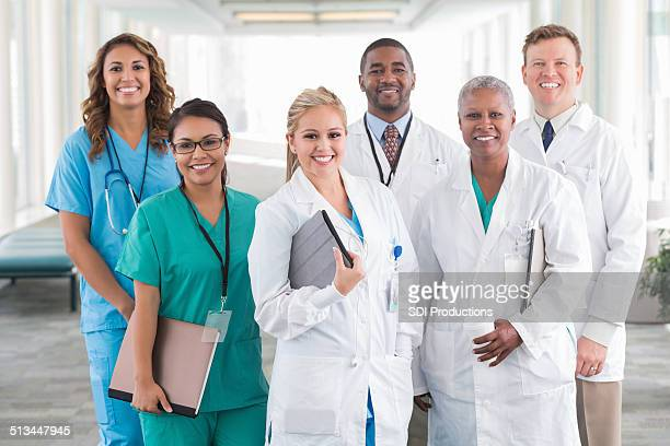 large diverse group of hospital doctors, surgeons, and nurses - group of doctors stock pictures, royalty-free photos & images