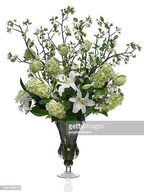 Large Dramatic Spring Bouquet with white background
