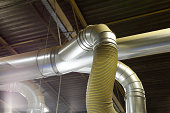 large ducting pipes inside a factory