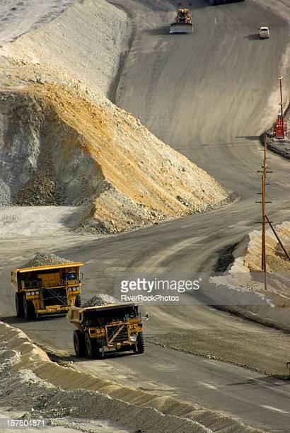 Large dump truck in Utah at a copper mine