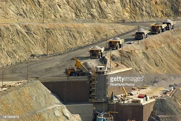 Large dump truck in Utah copper mine