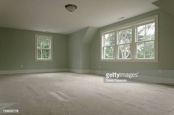 Large empty bedroom without carpet