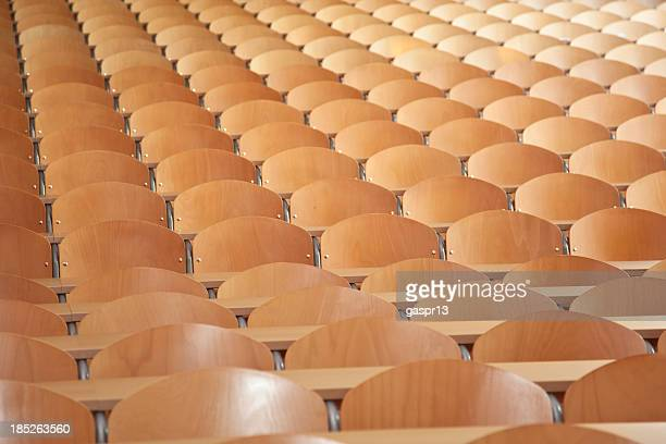large empty classroom - post secondary education stock pictures, royalty-free photos & images
