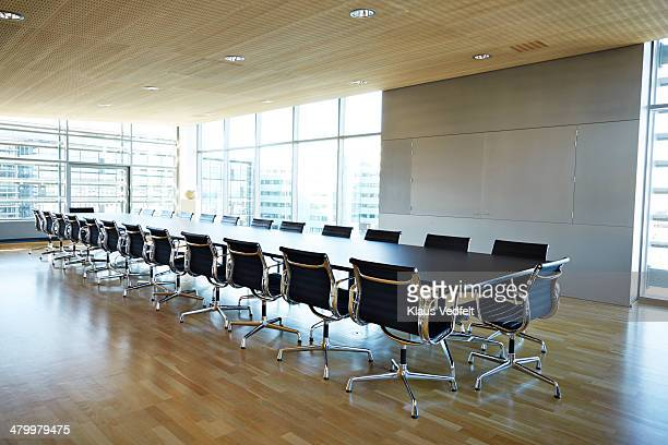 Large empty meeting room in corporate building