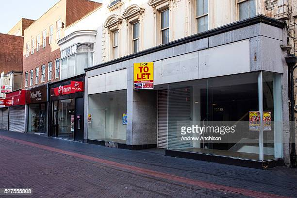 A large empty retail shop unit available to rent in Middlesborough town centre North Yorkshire United Kingdom Many small businesses have been forced...