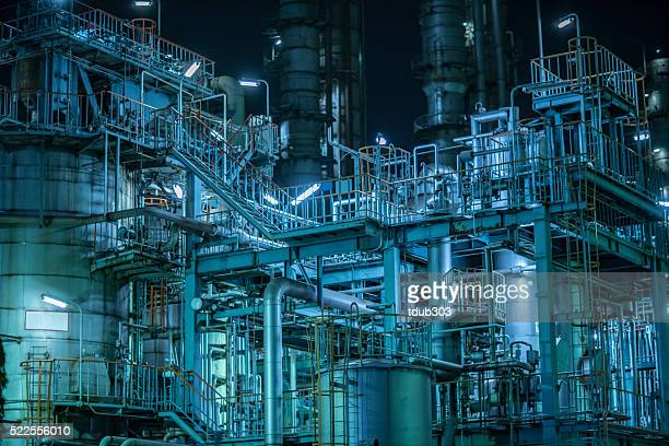 Large factory detail at night