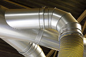 large factory ducting