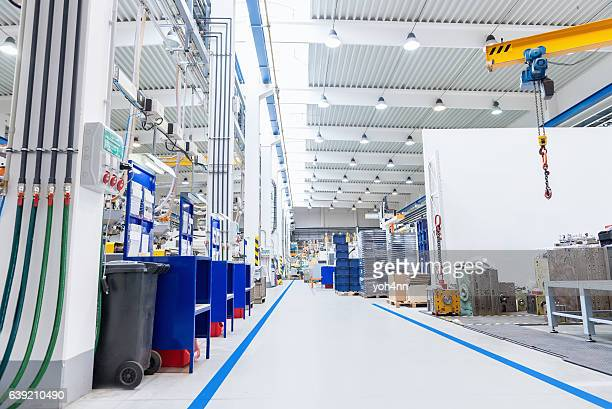 Large factory with equipment