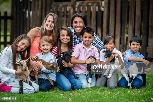 Große Familie in einem animal park