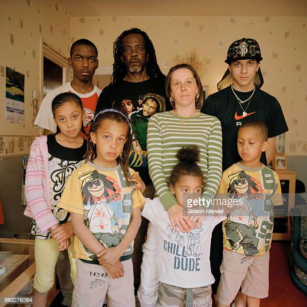 A large family in their flat on the Kingsmead Estate in Homerton in the eastern part of Hackney The mother is English and the father Jamaican The...