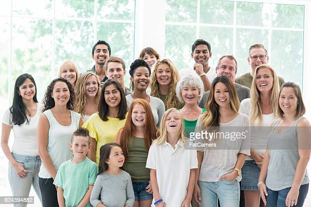 Large Family Standing Together