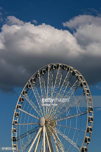 A large Ferris wheel located at The Island on The Parkway is viewed on October 18 2016 in Pigeon Forge Tennessee Located near the entrance to Great...