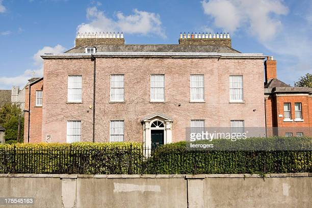 large georgian style house in dublin - georgian style stock pictures, royalty-free photos & images