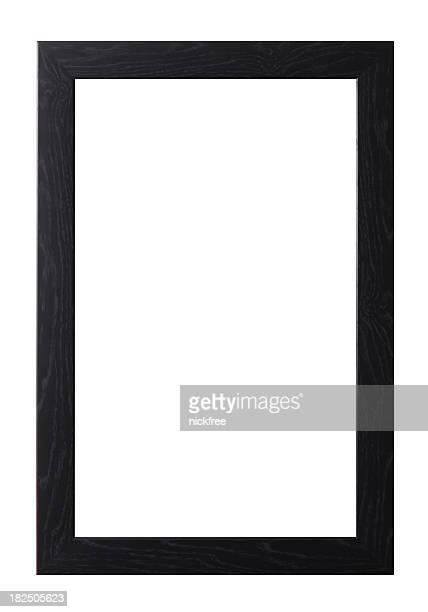 Large Grain Black Wooden Frame