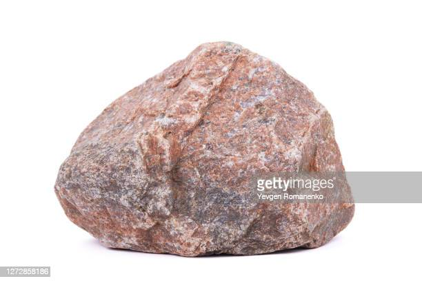 large granite stone on white background - 巨礫 ストックフォトと画像