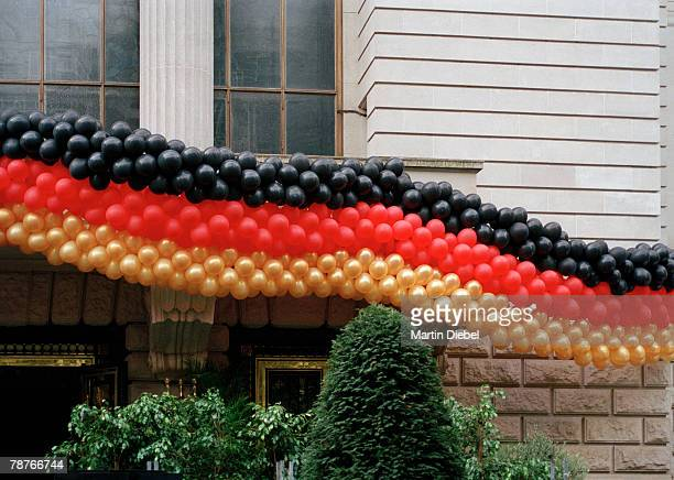 Large Group of balloons in the colors of the German flag