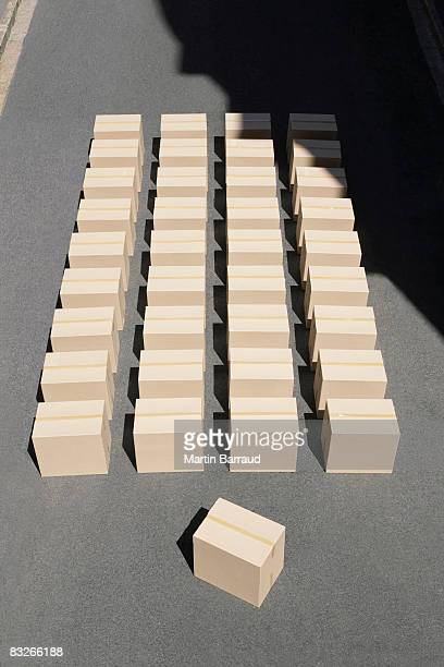 Large group of boxes
