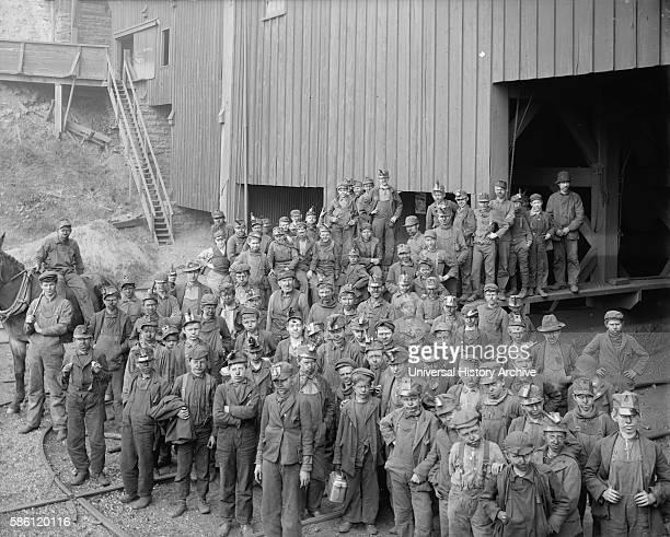 Large Group of Breaker Boys Portrait Woodward Coal Mines Kingston Pennsylvania USA circa 1890