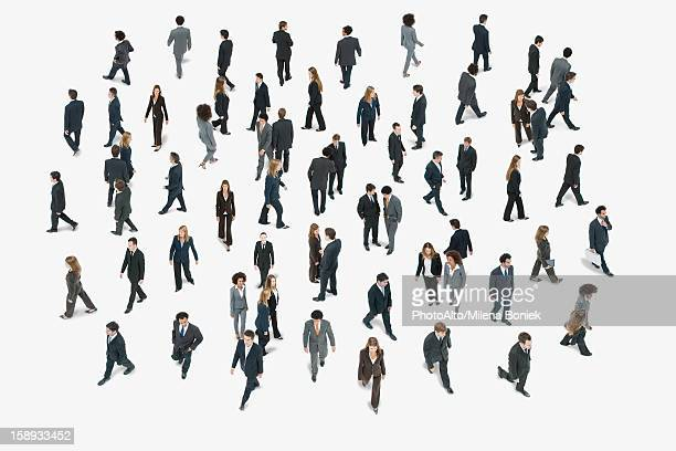 large group of business people, high angle view - 俯瞰 ストックフォトと画像