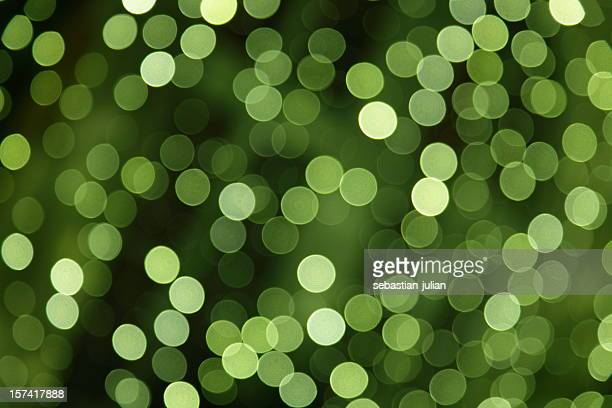 large group of defocused green dots XXXL