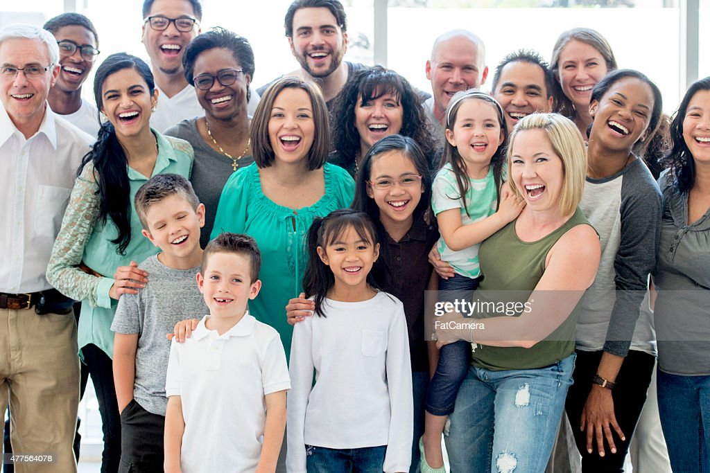 Large Group of Friends and Professionals : Stock Photo