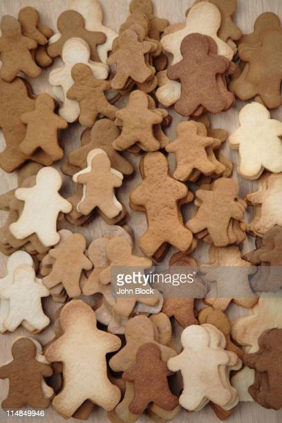 Large group of gingerbread man cookies
