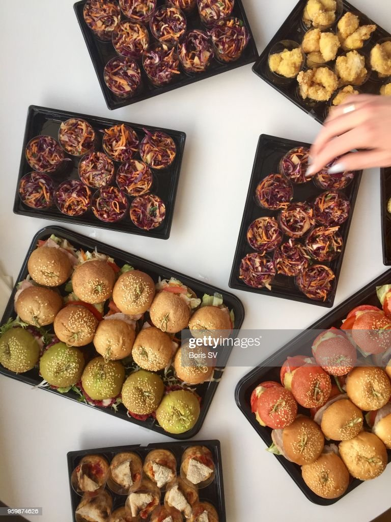 Large group of miniature sandwiches : Stock-Foto