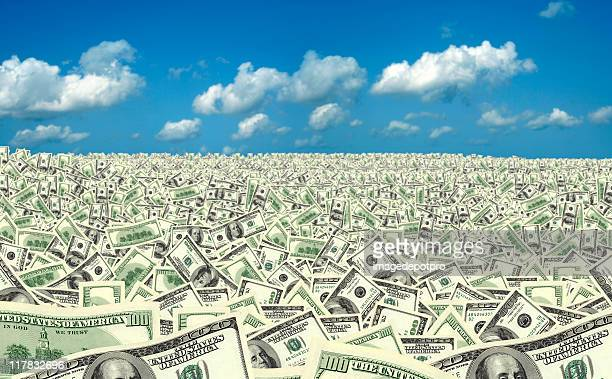 large group of money land