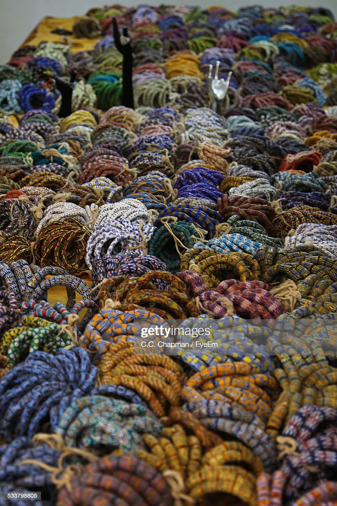 Large Group Of Multi Colored Ropes : Foto stock