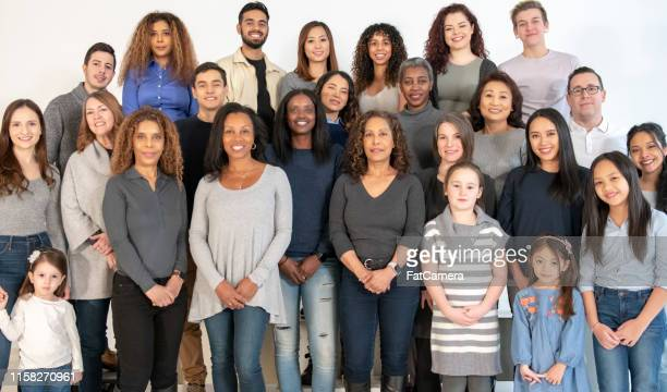 a large group of multi-ethnic people - black history stock photos and pictures