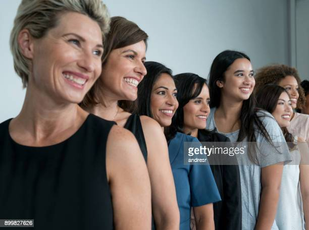 large group of multi-ethnic women - only women stock pictures, royalty-free photos & images