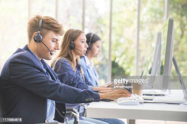 large group of new online business sale team people and call centre it support helping customer to find a solution for business and advice customer - contact us stock pictures, royalty-free photos & images