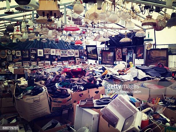 Large Group Of Objects In Flea Market