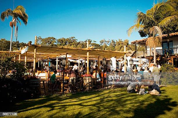 large group of people at an outdoor market in old town san diego, san diego, california, usa - old town san diego stock pictures, royalty-free photos & images