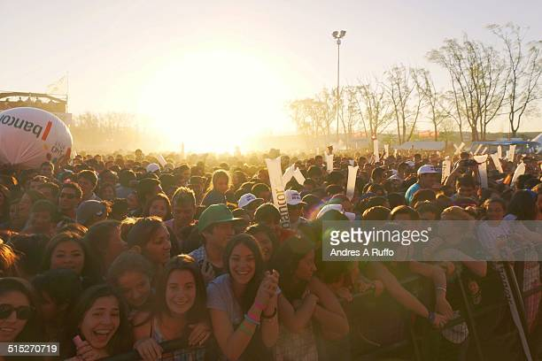large group of people celebrating the feast day of spring in the sports side of the city of Carlos Paz Argentina on September 21 2014