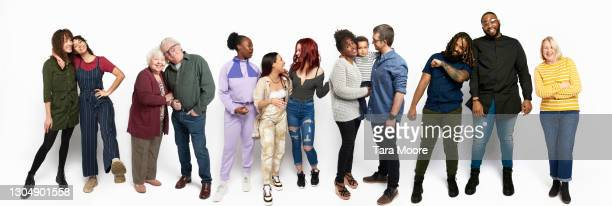 large group of people in a row - diversity stock pictures, royalty-free photos & images
