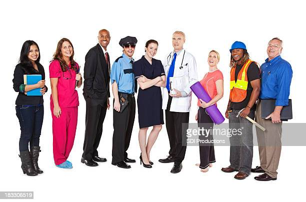 Large Group of Professionals with Different Occupations