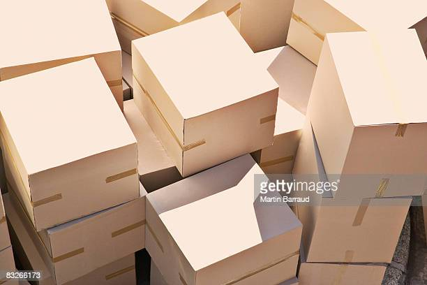 large group of stacked boxes - storage compartment stock pictures, royalty-free photos & images