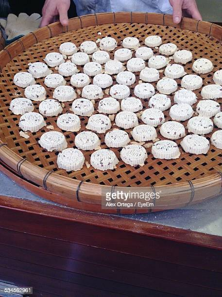 large group of white cakes - macao stock pictures, royalty-free photos & images