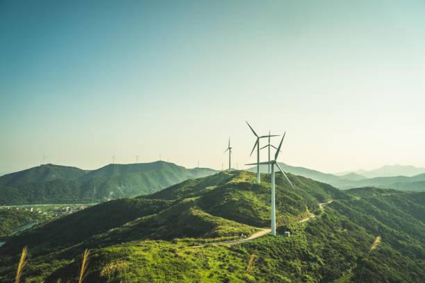 Large Group Wind Turbines Mountain - Fine Art prints