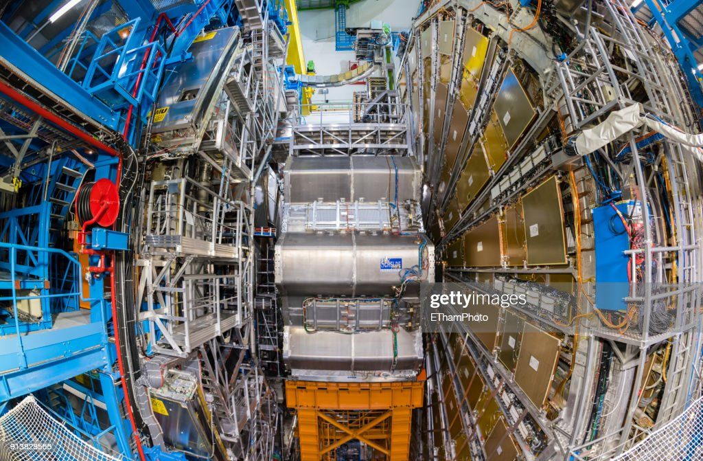Large Hadron Collider (LHC) nuclear particle accelerator at CERN, Geneva (Switzerland) : Stock Photo