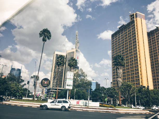 Large high rise office buildings in Central Nairobi, Kenya