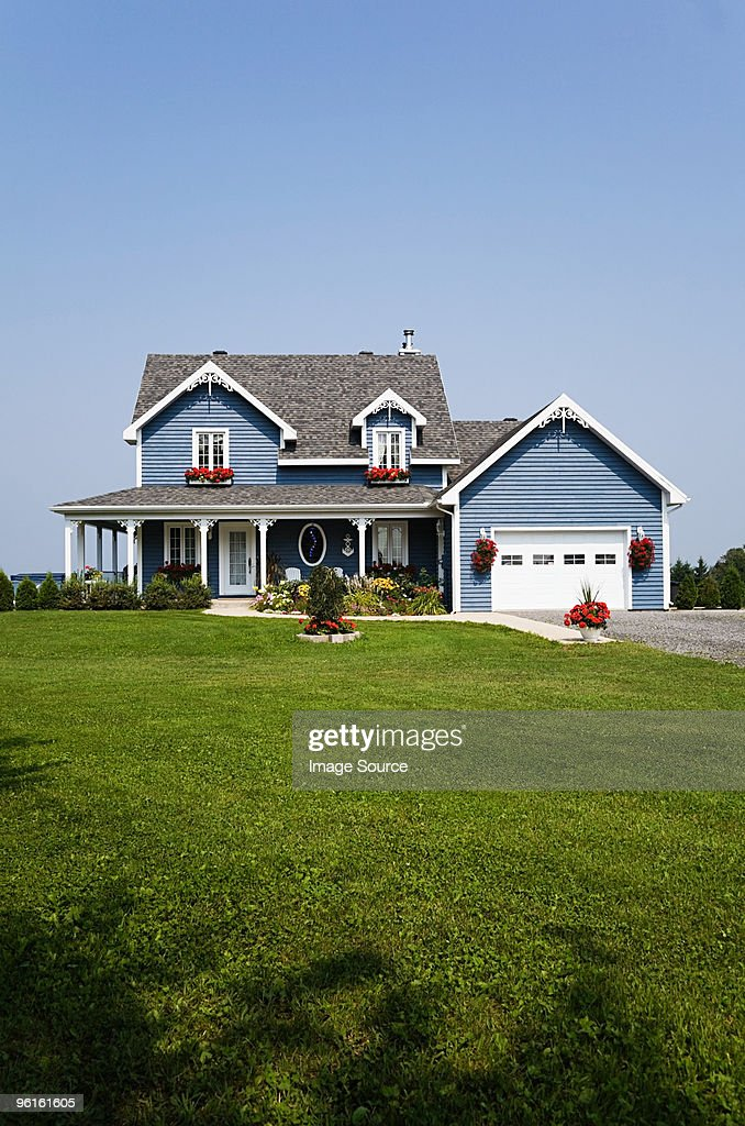 Large house and garden : Stock Photo