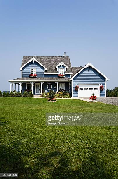 large house and garden - house exterior stock pictures, royalty-free photos & images