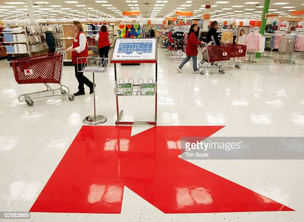 A large Kmart logo sits on the floor of a newly revamped Kmart store April 22 2005 in Norridge Illinois The store is one of nine test stores where...