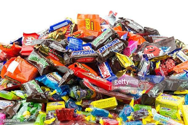 Large messy pile of candy