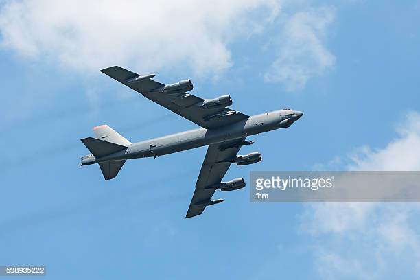 Large military aircraft bomber - display at an airshow